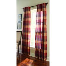 Maroon Curtains Martha Stewart Living Semi Opaque Miso Merlot Faux Silk Plaid