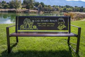 park benches custom laser cut memorial park benches youtube