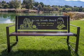 custom laser cut memorial park benches youtube