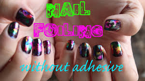 nail foiling without adhesive youtube