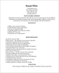 How Do I Add Volunteer Work To My Resume Professional Food Pantry Volunteer Templates To Showcase Your