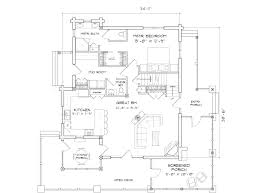 alderbrook log home floor plan