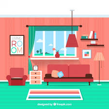 Colorful Living Room Vector Free Download - Colorful living room