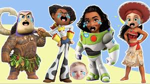 wrong heads toy story disney finger family nursery rhymes moana