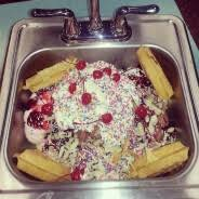 Krischs Kitchen Sink Ice Cream Sundae Challenge FoodChallenges - Kitchen sink ice cream sundae