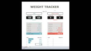 Downloadable Spreadsheets A Downloadable Excel File To Track Your Weight Loss Goals Youtube