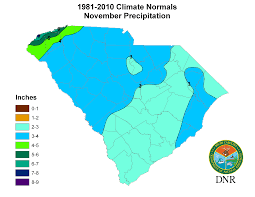 Rainfall Map Usa South Carolina State Climatology Office