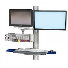 Monitor And Keyboard Wall Mount Philips Intellivue Mx600 700 800 On M Series Pivot Arm Channel
