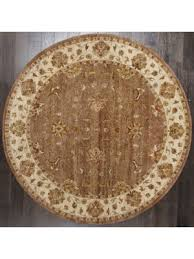 Brown Round Rugs Buy Hand Tufted Wool Rugs And Carpets Online At Best Price Rugsville