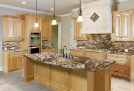 Cherry Kitchen Cabinets With Granite Countertops Natural Cherry Kitchen Cabinets 5 Maple Cabinets And Granite