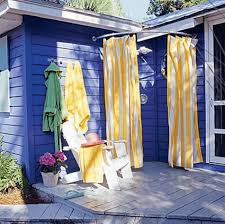 Outdoor Shower Curtains Impressive Outdoor Shower Curtains Ideas With Three Types Of