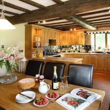 decorations nice kitchen of country house with low ceiling also