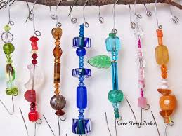 75 best crafts glass bead ornaments images on beaded