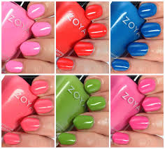 zoya tickled collection nail polish swatches all color