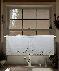 upscale lu embroidered valance curtains swag and tier set window