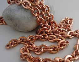 solid copper necklace images Solid copper chain etsy jpg