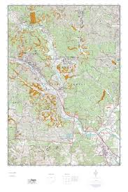 Topographic Map Of Ohio by Mytopo Nelsonville Ohio Usgs Quad Topo Map