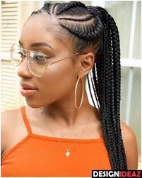 cornrows hairstyle with part in the middle 100 best black braided hairstyles 2017