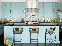 Light Blue Kitchen Backsplash by Ocean Hues Kitchen Myhomeideas Com