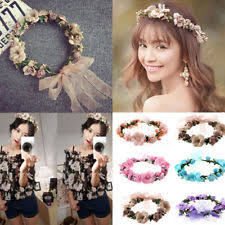 floral headdress flower crown hair accessories ebay