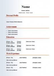 Word Formatted Resume Download Resume Models In Word Format Haadyaooverbayresort Com