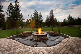 wonderful backyard landscape ideas with fire pits landscaping
