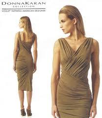 donna karan womens ruched dress oop vogue sewing pattern