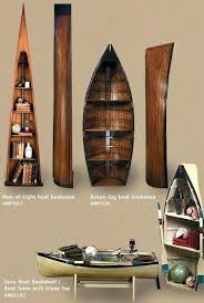 boat bookcases lead rowboat bookcase wooden boat bookcases