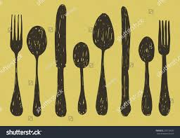 Kitchen Forks And Knives by Hand Drawn Spoon Fork Knife Collection Stock Vector 276716030