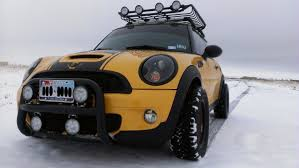 lifted bmw off road r56 mini cooper with a lift kit north american motoring