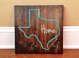 Personalized Wood Signs Home Decor Texas Custom Wood Sign Texas State Sign Stained And Hand Painted