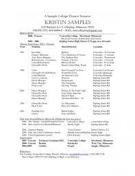 sample of high resume for college application inside 21