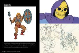 check out some of the earliest concept art for he man and skeletor