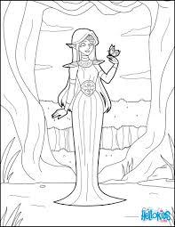 elf princess coloring pages hellokids com