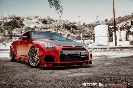 nissan gtr matte black and red savini wheels black di forza bm12 limited rose gold matte red