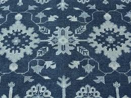 6 u0027 x 9 u0027 turkish knot oushak navy blue hand knotted pure wool