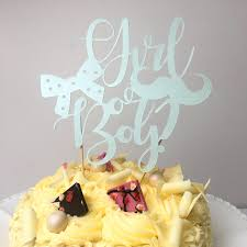 baby shower cake toppers girl girl or boy baby shower gender reveal party cake topper
