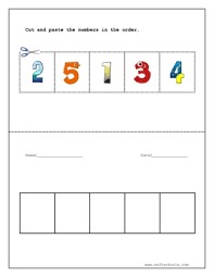 cut and paste the numbers in the order worksheet