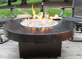 oriflamme fire table parts copper fire pit table hammered copper fire pit table within