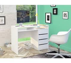 bureaux blanc laqué bureau droit best lak blanc laqué bureaux but