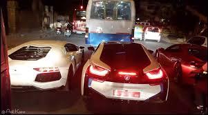 and lamborgini viral bmw and lamborghini stuck in bangalore traffic