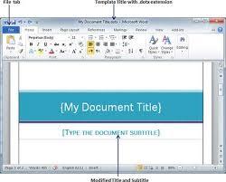 Resume On Microsoft Word 2010 How To Create Your Own Template In Microsoft Word 2010 Shishita