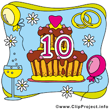 anniversaire mariage 10 ans 10 ans gâteau anniversaire mariage clip gratuit
