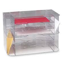 Clear Desk Organizer Sparco Sparco 6 Divider Jumbo Desk Sorter Clear Reviews Wayfair