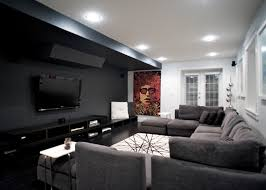 black and gray living room 20 knockout black accent wall in the living room home design lover