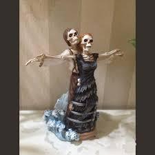 skeleton wedding cake toppers titanic skeleton wedding cake topper resin