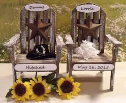 chair cake topper wedding cake toppers personalized adirondack chair cake