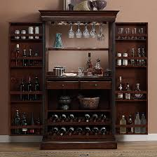 Angelina Armoire Bar Cabinet With Mirror Back By American Heritage