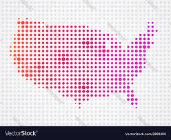 Usa Map Vector by Usa Dot Map Royalty Free Vector Image Vectorstock