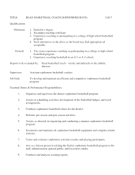 Swim Coach Resume Examples by Tennis Coach Cover Letter